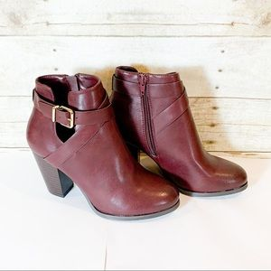 Call it Spring- NEW brown/burnt Sienna buckle boot